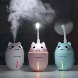 Umidificador Portátil de gatinho USB com mini ventilador e lanterna Entrega gratis