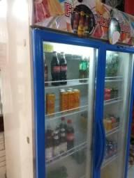 Refrigerador vertical expositor 2 portas 220v