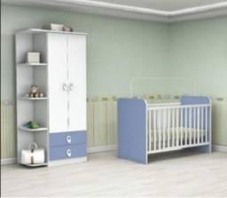 Preço Excelente Lindo Kit Quarto Infantil(Roupeiro+Berço) Novo Apenas 699,00