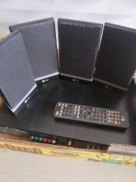 Home theater LG com defeito, 04 caixas de som que funcionam perfeitamente.