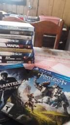 Vendo jogos  e controles PS4 semi novos