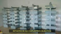 Estantes de Aço Duplas para Biblioteca em Alvorada