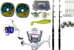 Usado, Kit Molinete lagoon 5 Rolamanetos e Jimmy Marine Sports + Acessórios comprar usado  Araucária