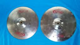 (Ler tudo) Pratos Orion e Ride meinl Mc's + Case e baquetas