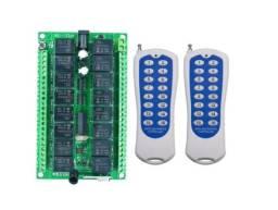 Título do anúncio: Relé Interruptor 2 Controles Sem Fio Radio 16ch Canais 12v