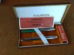 Caneta tinteiro Sheaffer com estojo coleção década 70/80