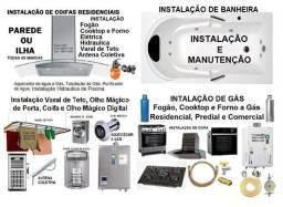 Serviços de Bombeiro, Eletricista, Banheira de Hidromassagem, Coifa e Antena TV Coletiva