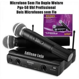 Microfone Sem Fio Uhf Wvngr Sm 58 Bivolt Igreja