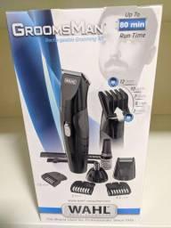 Aparador De Pelos Wahl Groomsman Recarregável Grooming Kit<br>