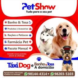 Banho e tosa a domicílio e Táxi Dog