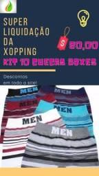 Kit 10 cuecas boxes
