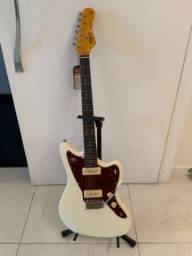 Kit Guitarra Woodstock TW61 Branco Vintage Tagima + Cubo + Acessórios