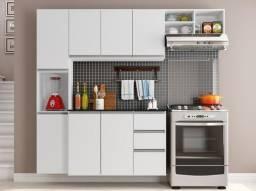 Armário de Cozinha com Balcão 8 Portas 2 Gavetas