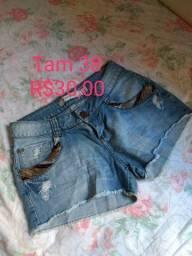 Short jeans lindo 38