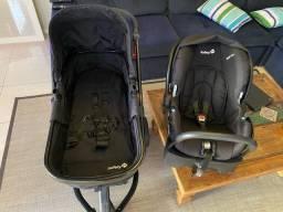 Carrinho de bebe Safety completo