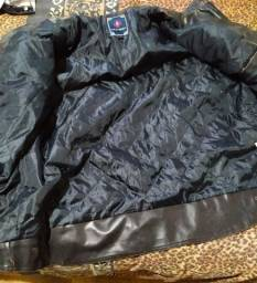 Jaqueta de couro legítimo impermeável