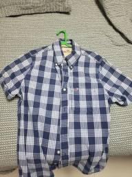 Camisa Polo Hollister Quadriculada Tamanho M