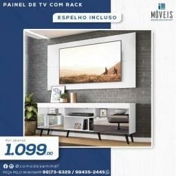 Kits sala (rack + painel de tv ) 100% MDF a partir de R$ 584,00