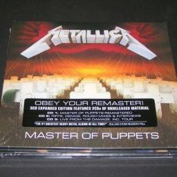 Cd Metallica Master of Puppets expanded deluxe edition triplo importado