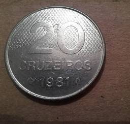Moeda 20 Cruzeiros 1981