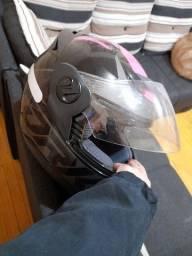 Vendo capacete novo usado 2x