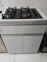 Cooktop fischer bivolt com bancada e armário