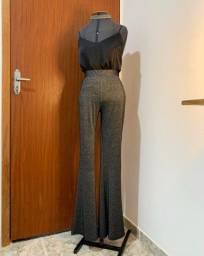 Calça Flare Brilhosx (cintura alta)