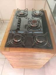 Cooktop 5 bocas Esmaltec