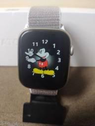 Relógio Smartwatch, coloca fotos, 2 pulseiras, faz chamadas