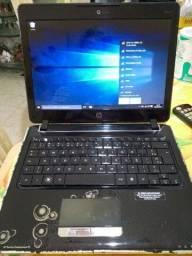 Notebook Hp pavilion DV2 preto brilhante Usado e Funcionando