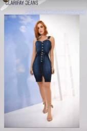 Vendo esse vestido jeans da marca clarifay.  Usado pela uma única vez