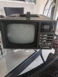 Mini tv Panasonic deluxe antiga antiguidade
