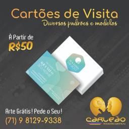 1000 Cartões de Visita e Panfletos à partir de R$50