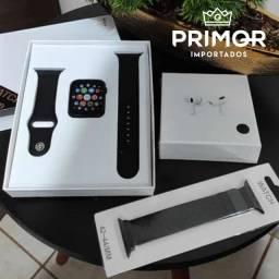 Kit smartwatch IWO 13 + Fone i13 pro + pulseira