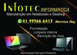 Manutenção em notebooks e desktop