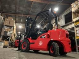 Empilhadeira Diesel Hangcha | Torre Duplex de 3 metros | NOVA