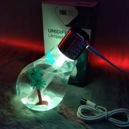 Lâmpada umidificador   Lâmpada USB  Led 400ml
