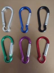 Mini chaveiro mosquetão alumínio 6 cores
