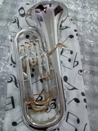 Euphonium Bombardino Weril H980 Sib - NOVO- Prata com Ouro -Parcelo 12x / Aceito trocas