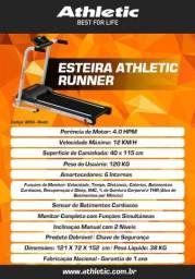 Esteira Ergométrica Athletic Runner Lançamento 2021 12km/h + Sensor de Pulso