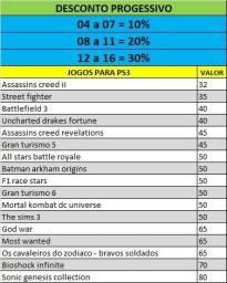 Jogos PS3 a partir de 40 reais