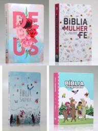 Bíblias Sagradas vários modelos, novas. Aceitamos cartões