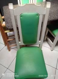 Vendo mesa de mármore com 6 cadeiras