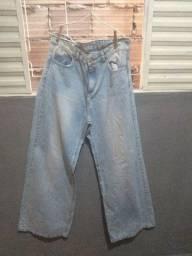 Vendo calça pantalona jeans claro !
