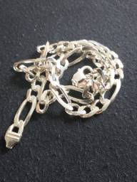 Corrente de prata italiana 925 elo 3x1