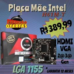 ...Placa mãe Intel H61M-T ((LGA 1155))...