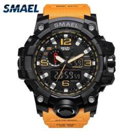 Relógio militar SMAEL (50M) Original - Laranja