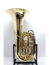 Tuba Jupiter JCB582 Sib 4/4 com Estojo e Bocal Original