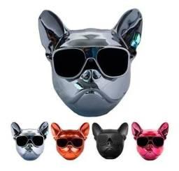 Caixa De Som Cachorro Bulldog 10w Bluetooth Sd Tsotf