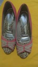 Sapato Rosa Em Perfeito Estado.